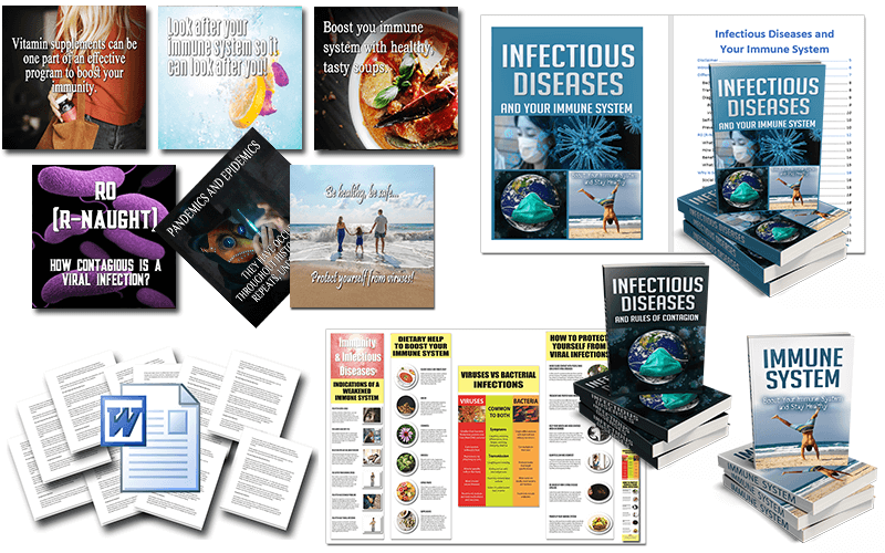 Infectious Diseases & Your Immune System PLR – 3 Packs to Choose From