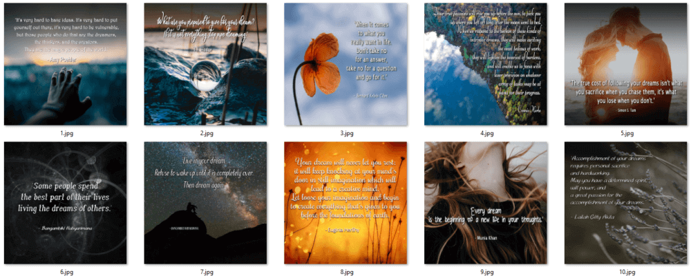 Manifest Your Desires PLR Social Posters 1