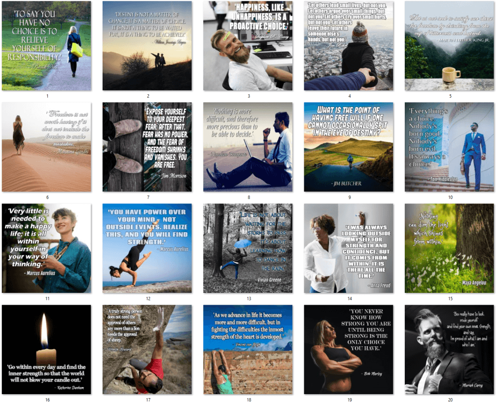 20 Personal Growth Quote Posters PLR