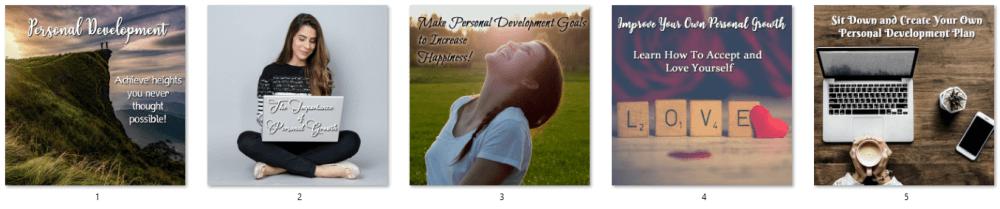 Personal Growth & Development PLR Social Posters