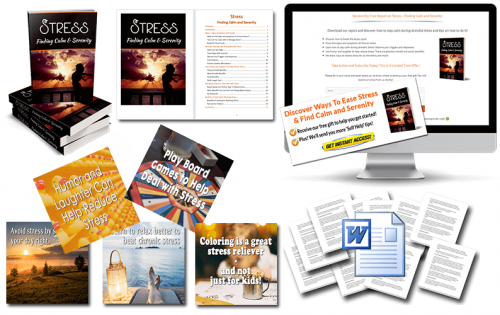 Relieve Stress PLR –  Finding Calm and Serenity PLR pack