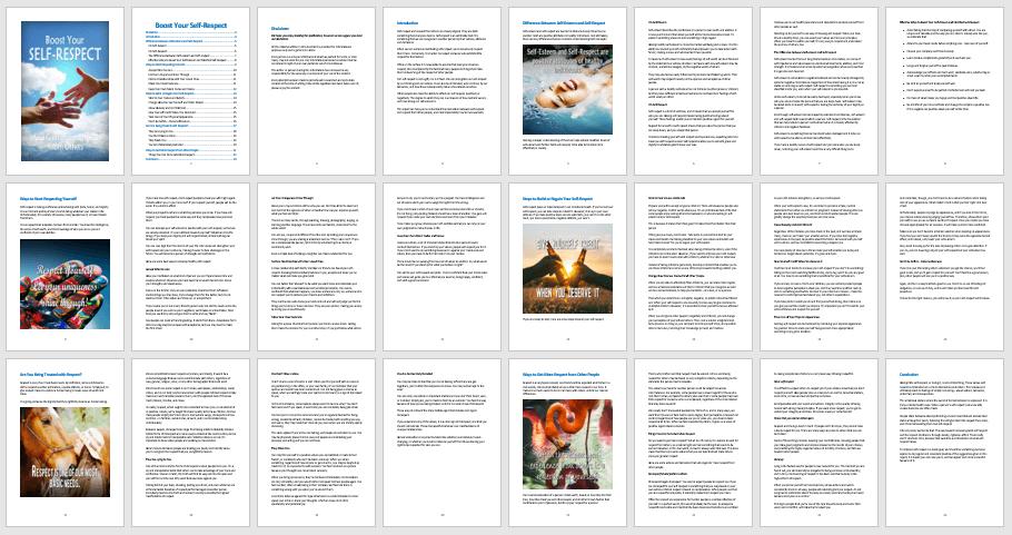 Self-Respect PLR eBook Contents