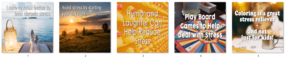 Relieve Stress PLR Social Posters