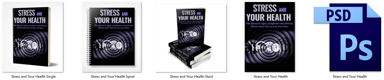 Stress and Your Health PLR eBook Covers