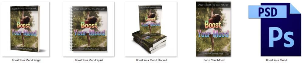 Boost Your Mood PLR Report or Ebook Cover Graphics