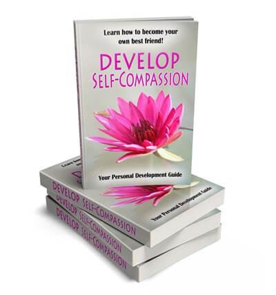Develop Self-Compassion PLR eCover Graphic