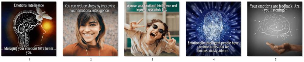 Emotional Intelligence PLR Social Posters