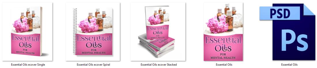 Essential Oils for Mental Health PLR Report eCover Graphics