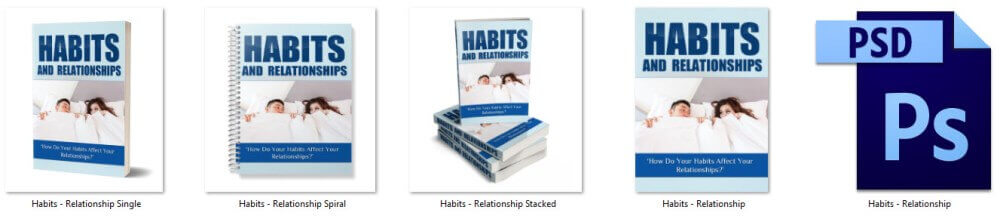 Habits and Relationships PLR Report eCover Graphics
