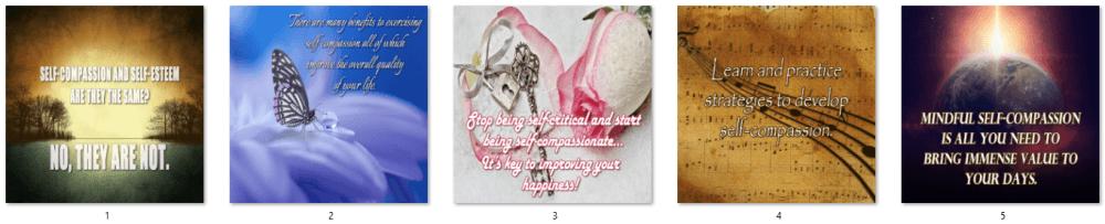Self-Compassion PLR Social Posters